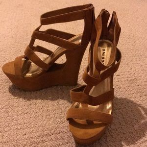 Suede Wedges by Bamboo