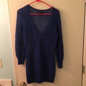 Express mesh sweater tunic medium