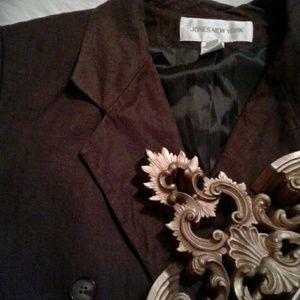 ❌6 Jones New York Brown Linen Blazer
