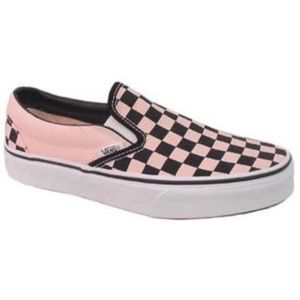 Vans Slip Ons - Pink and Black Checkered