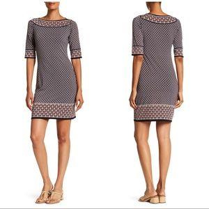 Max Studio Mixed Print Sheath Shift Dress sz L