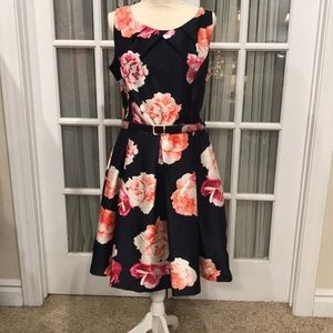 NWT Special Occasion Navy Blue with flowers Dress