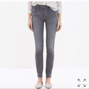 "Madewell 9"" inch high riser skinny skinny jeans 25"