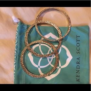 Kendra Scott set of three gold bracelets