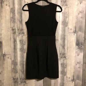 Theory sz 4 black wool blend tank dress