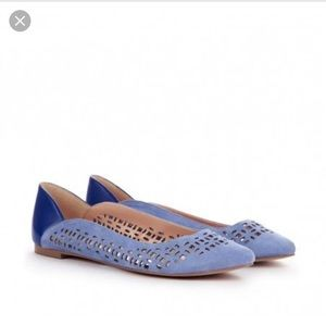 Sole society Barrie blue laser cut flats 8.5