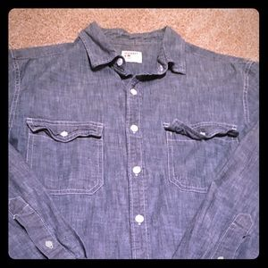 Men's M chambray button down