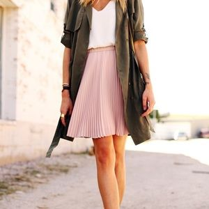 Banana Republic Blush Pleated Skirt