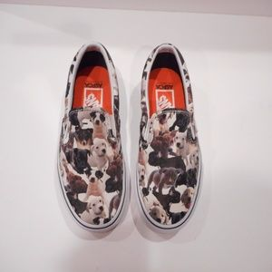 Vans Slip On Sneaker Womens 9 puppy aspca
