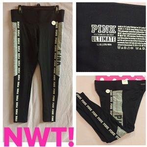 NWT! PINK ULTIMATE FLEECE LINED POCKET LEGGINGS