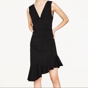 NEW Zara Ruffle Hem Dress