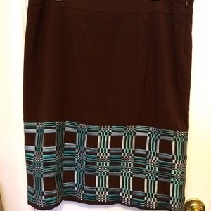 Brown and Teal Skirt