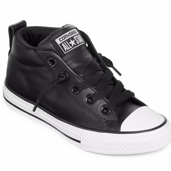 155212583115 New Kids Leather Converse All Star