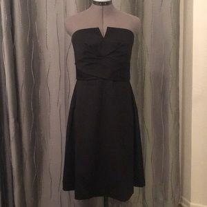 White House Black Market Black Strapless Dress, 6