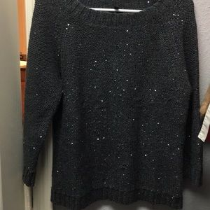 Gray Sequin Sweater