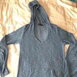 Women's volcom light blue sweater hoodie sz sm