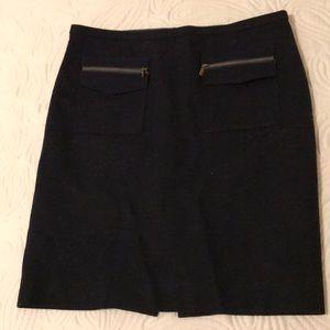 JCrew Navy Wool Skirt