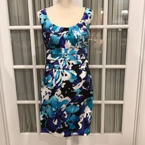 Blue and White tank dress