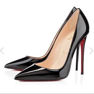 • Christian Louboutin • So Kate Black Patent Heels