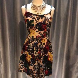 Vibrant floral dress, amazing colors!