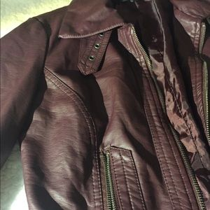 Faux leather jacket from Forever 21.
