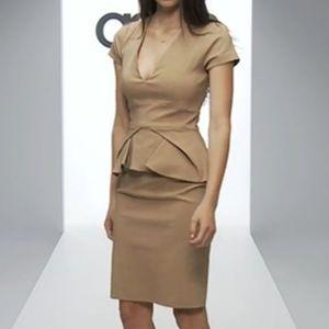 ASOS V-Neck Pleated Peplum Hybrid Dress, sz 6