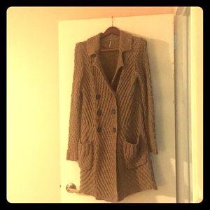 Feee People Knit Long Cardigan