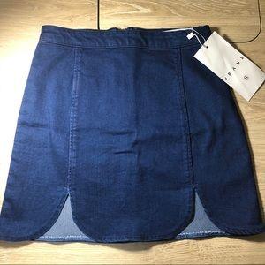 American Apparel Denim Slit Skirt