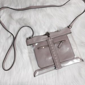 AUTHENTIC Valentino Clear Rockstud Crossbody