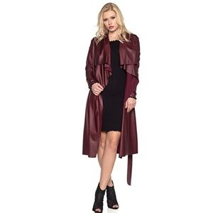 Jackets & Blazers - Leather Duster Coat
