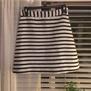 Express Striped Tweed Skirt