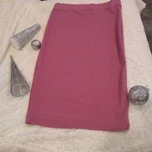 Dusty rose pencil skirt