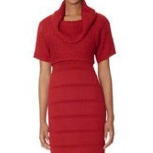 The Limited Red Cowl Neck Sweater Dress