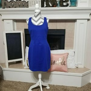 Gianni Bini blue sleeveless sheath dress size 10