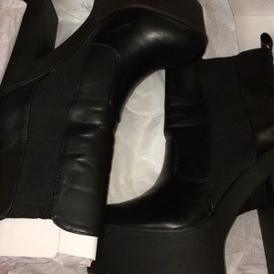 NEW Just Fab Brierly black platform boots emo goth
