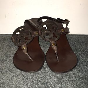 Tory Burch brown leather heels