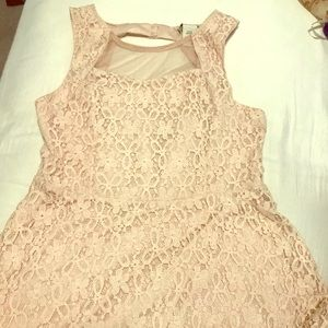 Baby Pink Floral Lace Dress