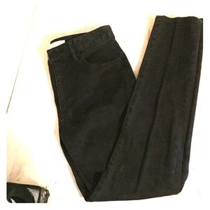 Tory Burch charcoal skinny jeans