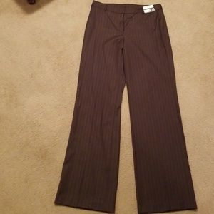 Stripped brown and white pants Tall Length