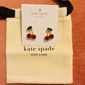 Kate Spade Ma Cherie🍒Stud Earrings NWT & Dust Bag