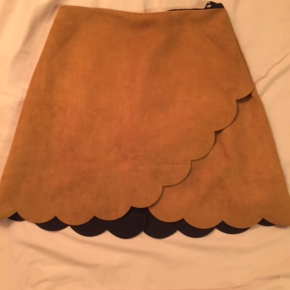 Dresses & Skirts - Scalloped Suede Skirt