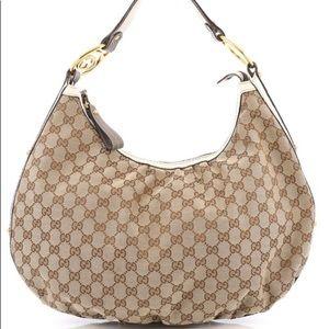 Gucci Interlocking GG Canvas Hobo Bag