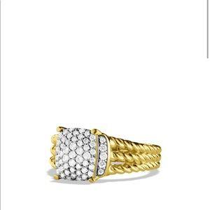 David Yurman Gold ring/ diamonds