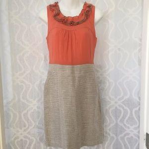 The Limited Peach Sleeveless Sheath Dress