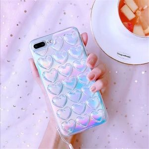 Accessories - Holographic hearts iPhone 7 case