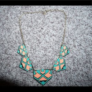 peach and turquoise necklace