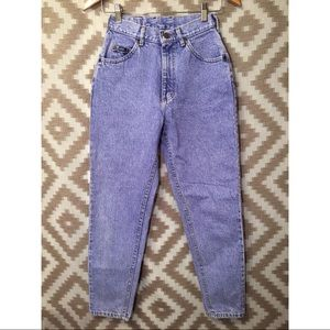 Vintage Indigo Acid Wash Lee High Waisted Jeans