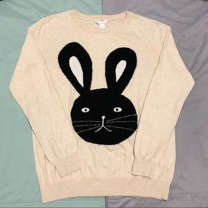 Forever 21 Bunny Sweater - Cream
