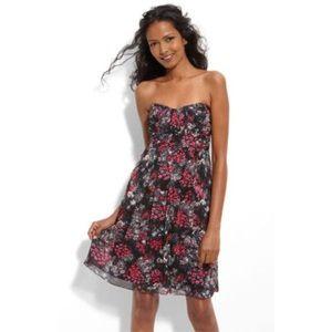 Cyan By Shoshanna Dress Size 4 Strapless Chiffon