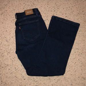 Like new dark blue jeans. Curvy boot cut